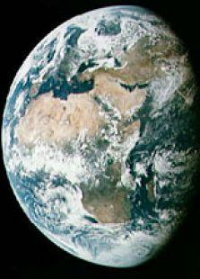 从太空看美丽的地球